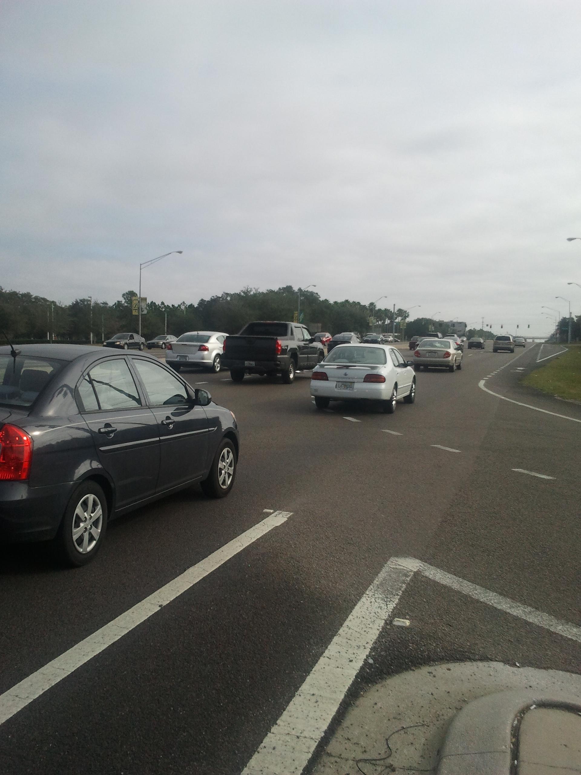 Ejemplo de calle en Tampa
